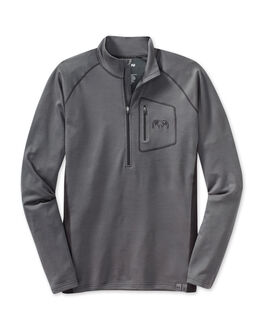 ULTRA Merino 210 Zip-T, Charcoal-Black