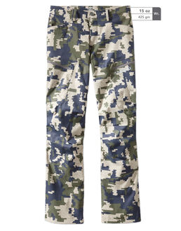 Green Camo Stretch Woven Hunting Pants