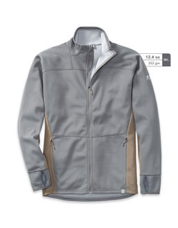 Full-Zip Grey Fleece Hunting Jacket