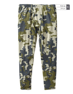 Green Camo Merino Base Layer Pants