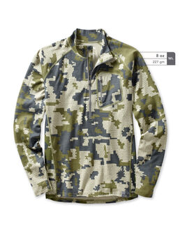 Merino Wool 145 Camo Hunting Zip-T