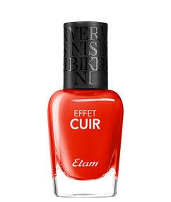 Vernis à ongles effet cuir 01.cuir rouge.