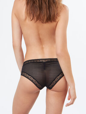 Shorty en tulle noir.