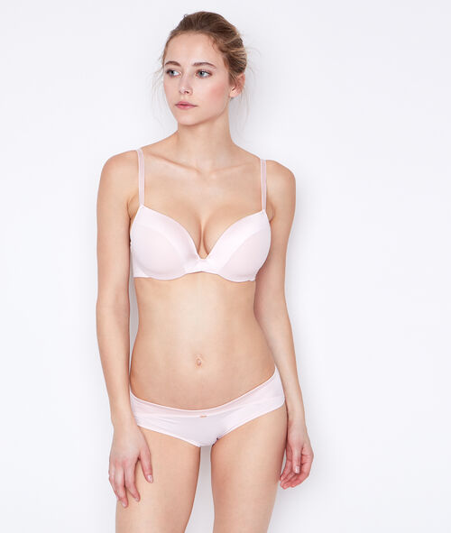 Micro padded demi cup bra, D cup;${refinementColor}