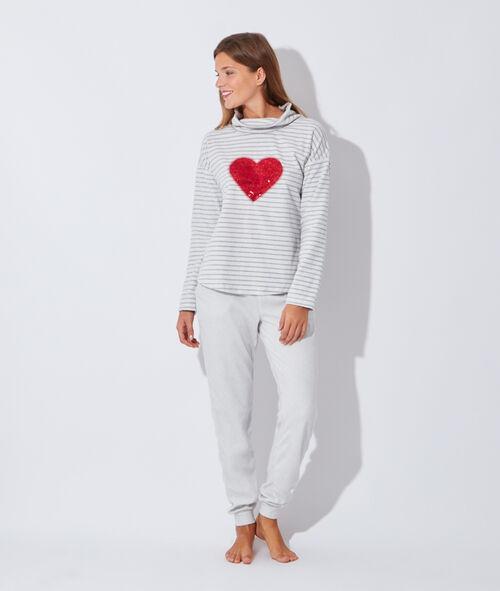 Pyjama 2 pièces polaire