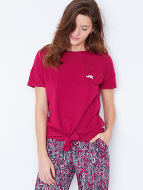 T-shirt a nouer rose.