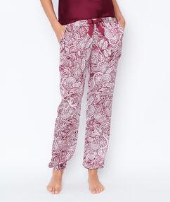 Pyjamahosen burgunderrot.