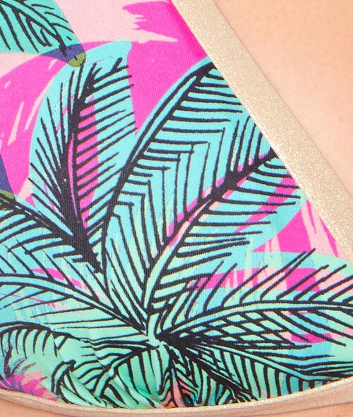 Haut de maillot de bain triangle imprimé palmier;${refinementColor}