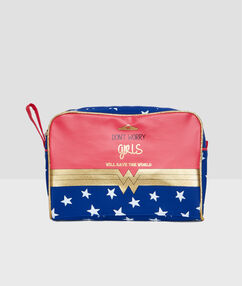 Wonder woman toiletbag blue.