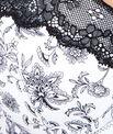 Soutien-gorge ampliforme micro imprimé floral, empiècement dentelle