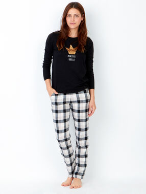 Pyjama sweatshirt black.
