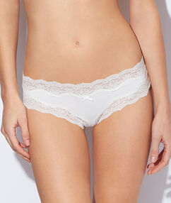 Micro and lace shorty white.