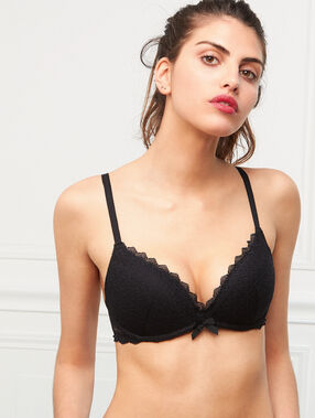 Lace push up black.