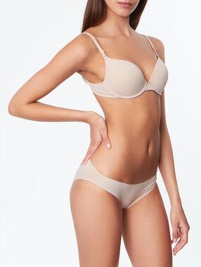 Culotte micro finition thermocollée beige/ peau.