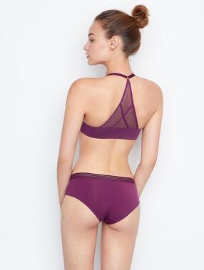 Shorty bi-matière violet.