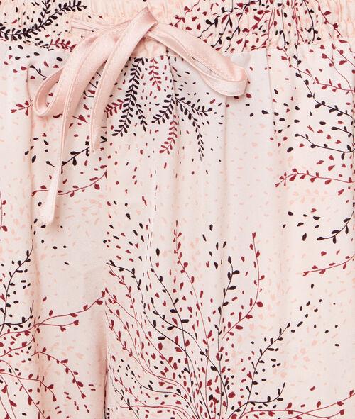Pantalon imprimé fleurs japonaises;${refinementColor}