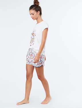 Pyjama short ecru.