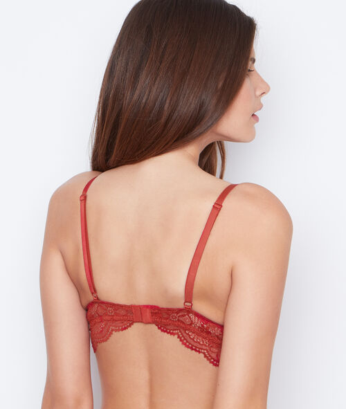 Lace push up bra
