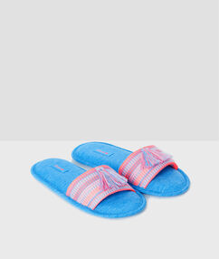 Slippers blue.