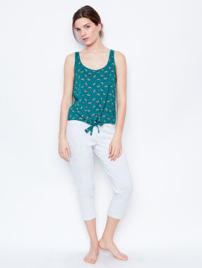 Printed t-shirt green.