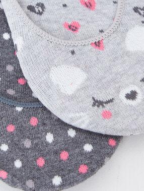 Chaussettes de maison à imprimé gris.