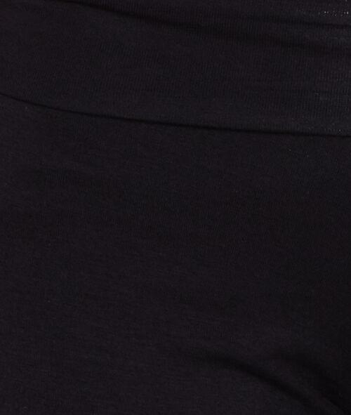 Spodnie z wiskozy ze ściągaczem u dołu