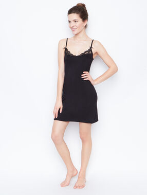 Lace nightdress black.
