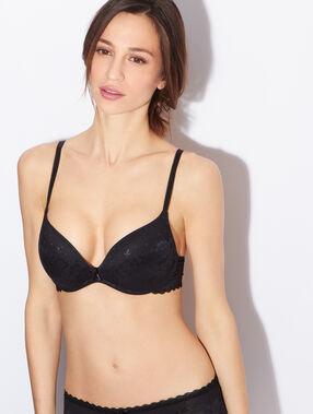 Soft bra : push up sans armatures tout dentelle noir.
