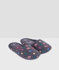Zapatillas estampado peces c.gris.