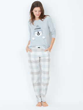 Pyjama sweatshirt grey.