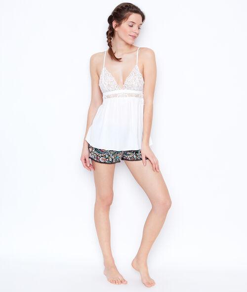 Satine printed pyjama shorts;${refinementColor}