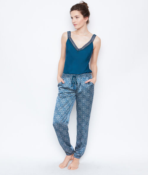 Satine printed pyjama pants;${refinementColor}