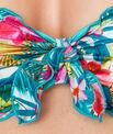 Haut de maillot de bain bandeau imprimé tropical