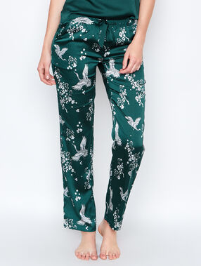 Pyjamahosen grün.