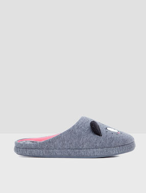 Cat slippers grey.