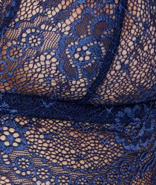 Lace wireless triangle bra;${refinementColor}