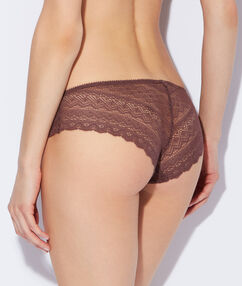Lace shorts brown.