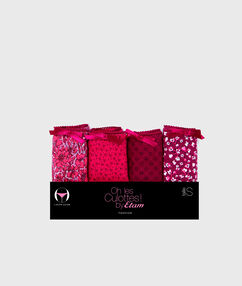 Pack of 4 knickers pink.