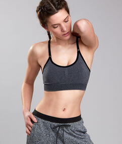 Sport bra, minimum support grey.
