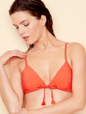 Triangle bra orange.