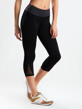 Pantalon 3/4 stretch, effet galbant noir/gris.