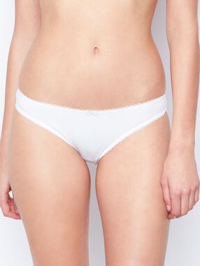 Cotton knickers white.