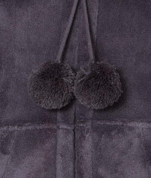 Veste d'intérieur zippée toucher peluche;${refinementColor}