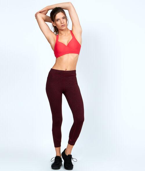 Sport bra, push up effect, racer back;${refinementColor}