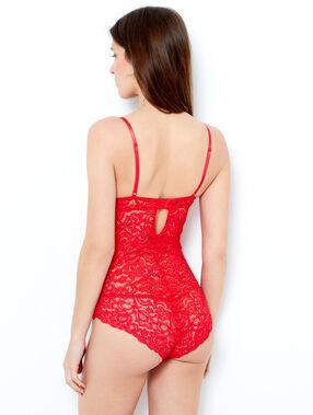 Body aus spitze rot.