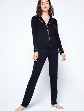 Chemise pyjama bicolore noir.