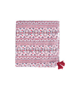 Foulard carré rose.