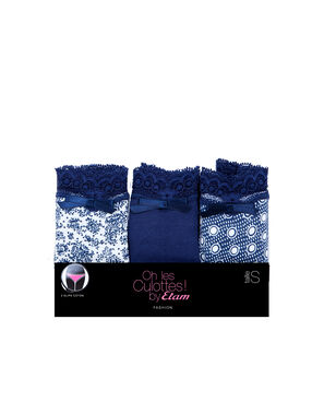 Pack of 3 knickers blue.