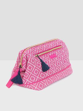Printed toiletbag pink.