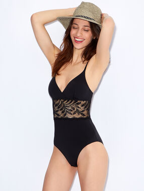 Micro and lace bodysuit black.